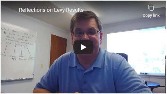 Superintendent Update: Reflections on Levy Results